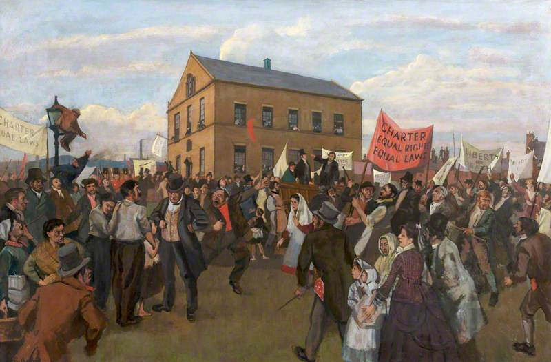 The Opening of the Chartists' Meeting House, Hyde