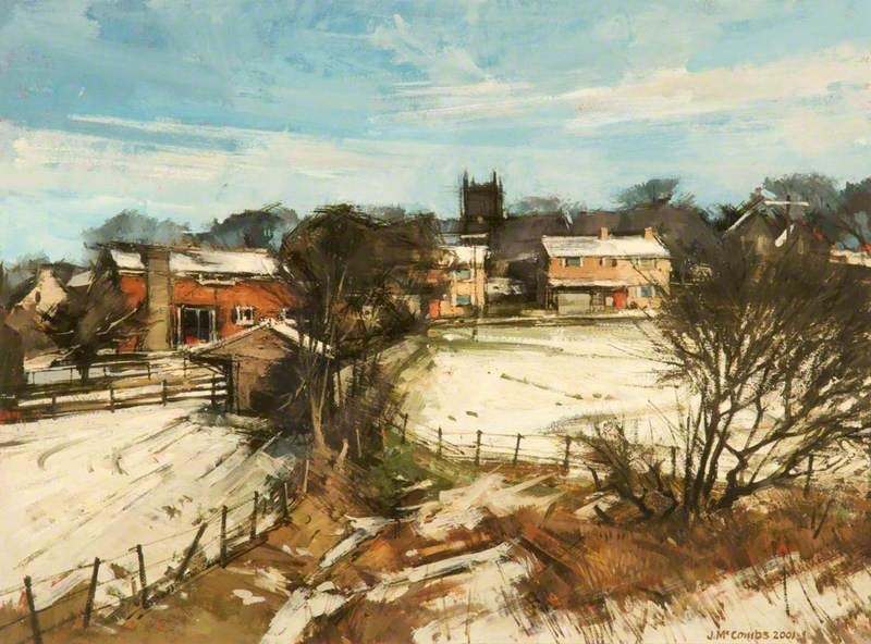 Winter, Denshaw Church, Saddleworth, Greater Manchester
