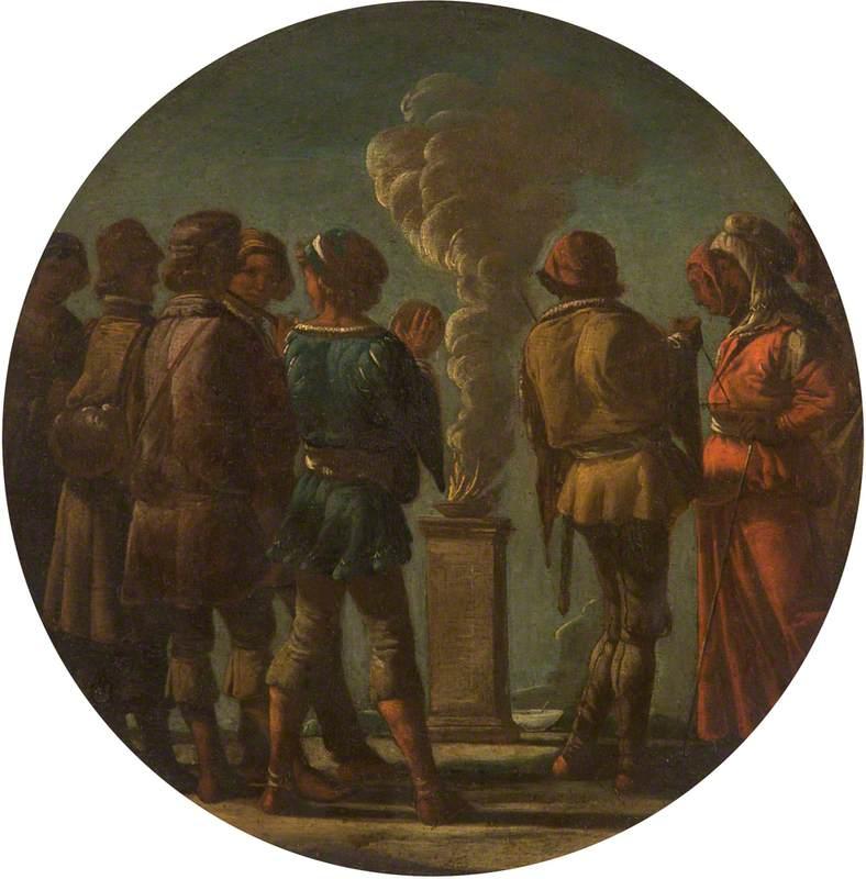 A Scene of Sacrifice at an Altar