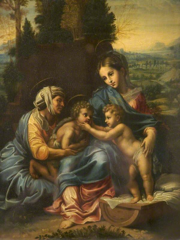 The Holy Family with Saint Anne and Saint John
