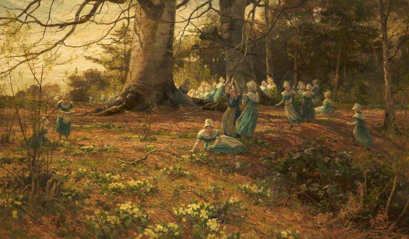 An Easter Holiday, the Children of Bloomsbury Parochial School in a Wood at Watford