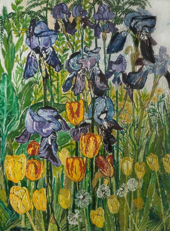 Irises and Tulips