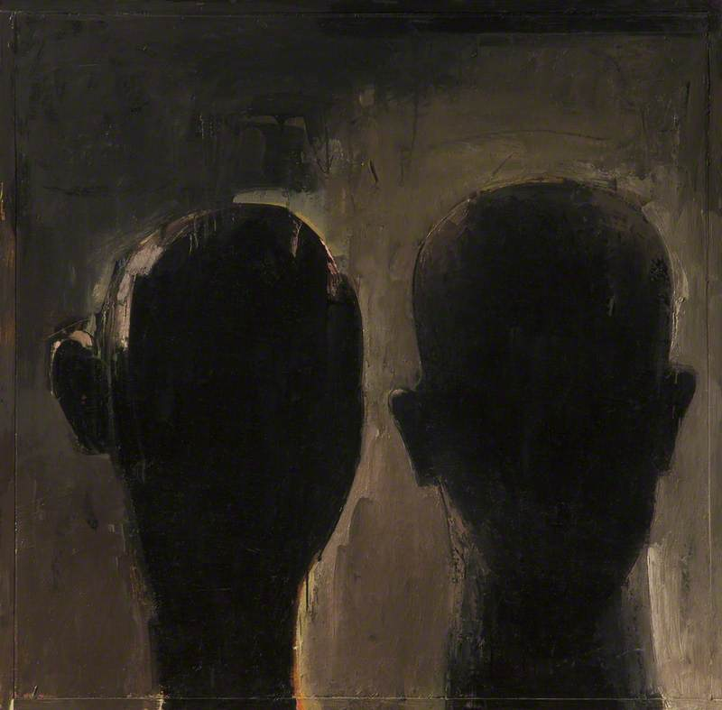 Two Heads in Black, No. 1