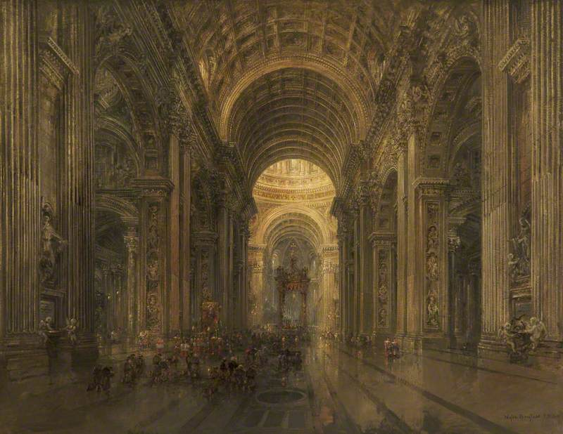 Interior of St Peter's, Rome