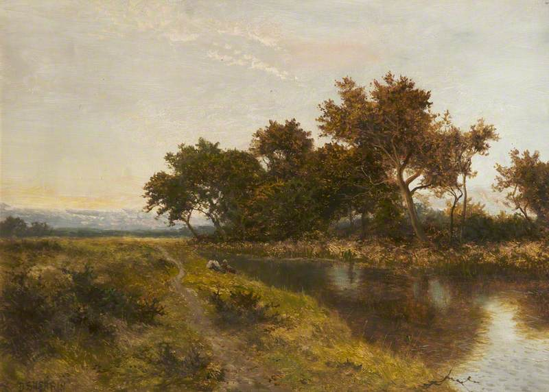 Landscape: Two Figures by a Stream