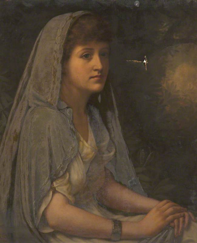 Portrait of an Unknown Woman Wearing a Cloak