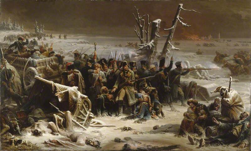 Marshal Ney Supporting the Rear Guard during the Retreat from Moscow