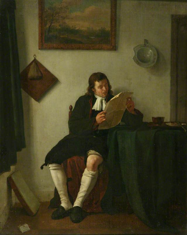 Interior with Man Reading