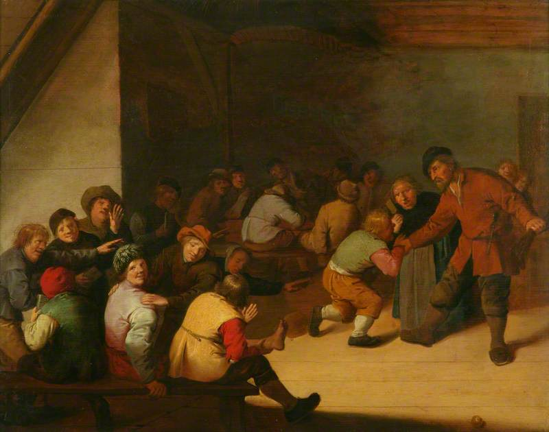 Interior with Peasants and School Children