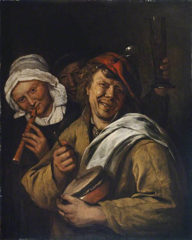 The Rommelpot: Interior with Three Figures