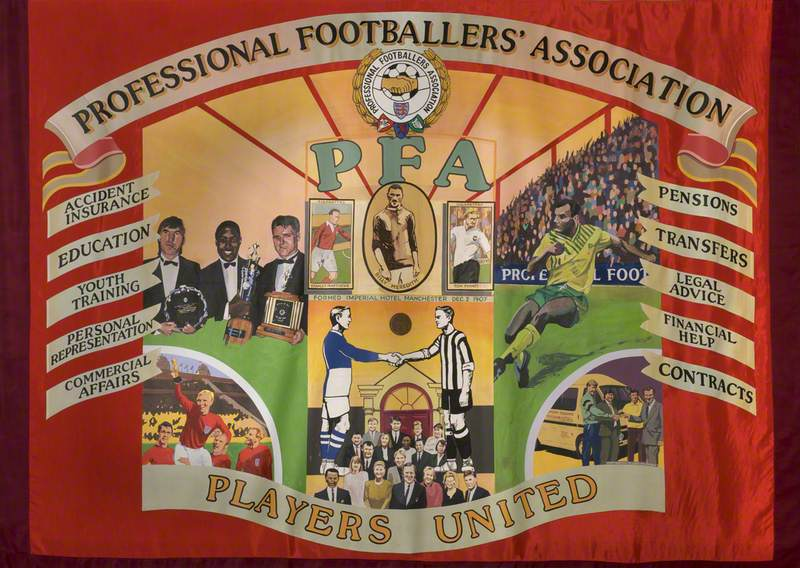 Professional Footballers' Association Banner