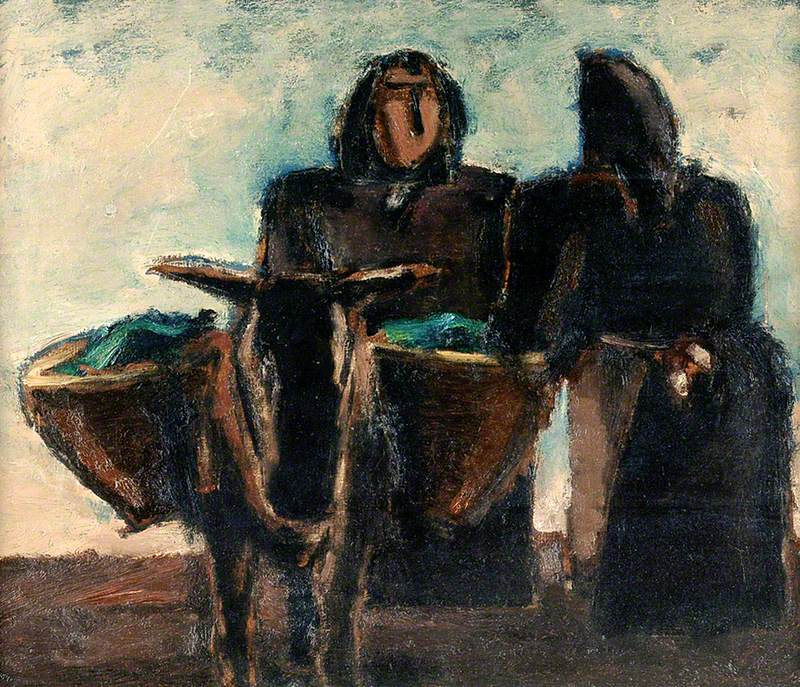Two Peasant Women with a Donkey