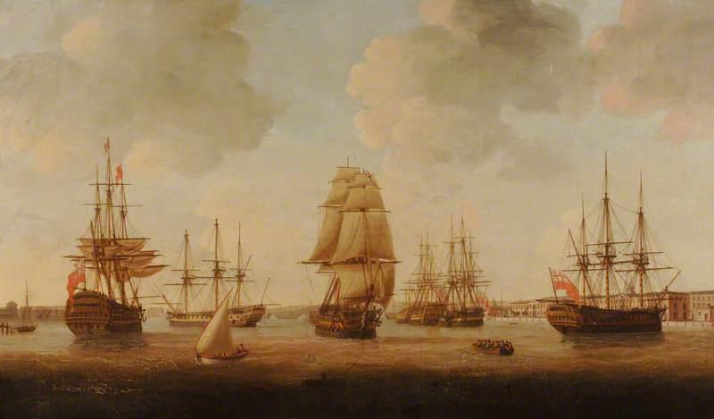 Portsmouth Harbour at High Tide