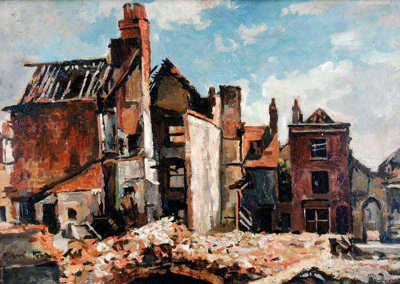 Ruins of St Thomas' Street, Portsmouth