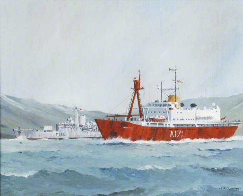 HMS 'Endurance' and HMS 'Plymouth'