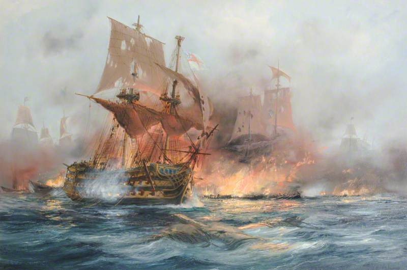 HMS 'Victory' at Trafalgar