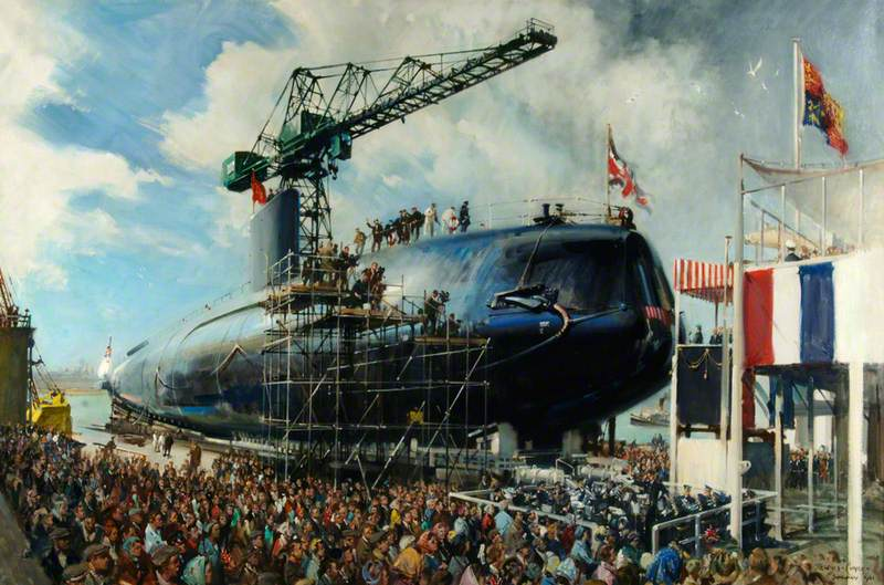 The Launch of HMS 'Dreadnought'