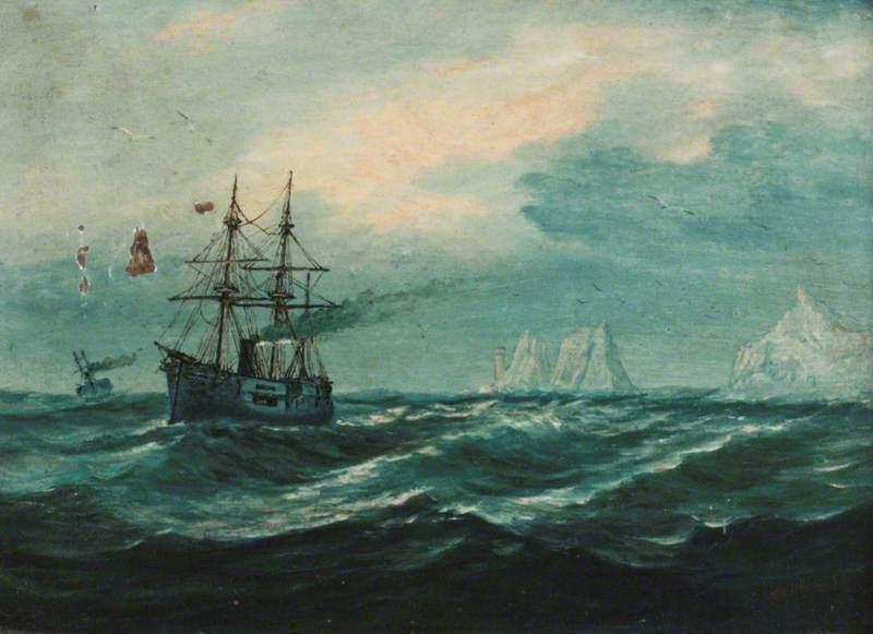 A Ship off 'The Needles'