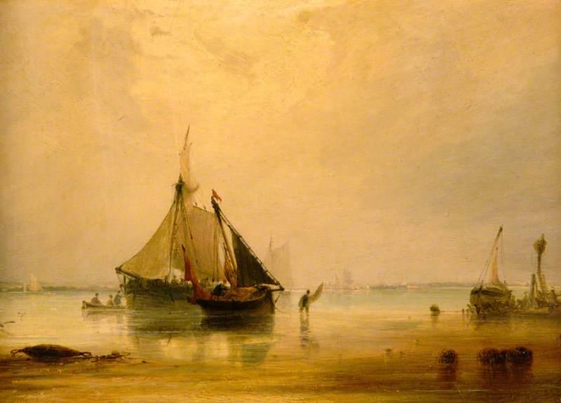 Vessels on Shore near Southampton