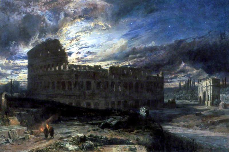 The Coliseum at Rome by Moonlight
