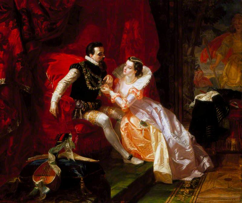 Leicester and Amy Robsart at Cumnor Hall