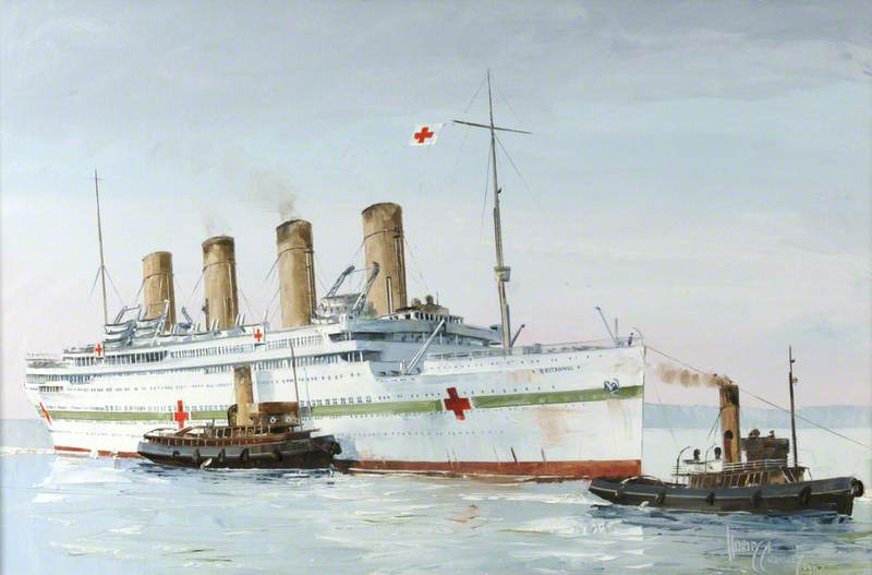 'Britannic' as a Hospital Ship
