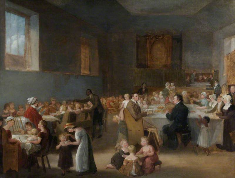 New Year's Feast at Mr Walter Taylor's Charity School, Portswood Green, near Southampton