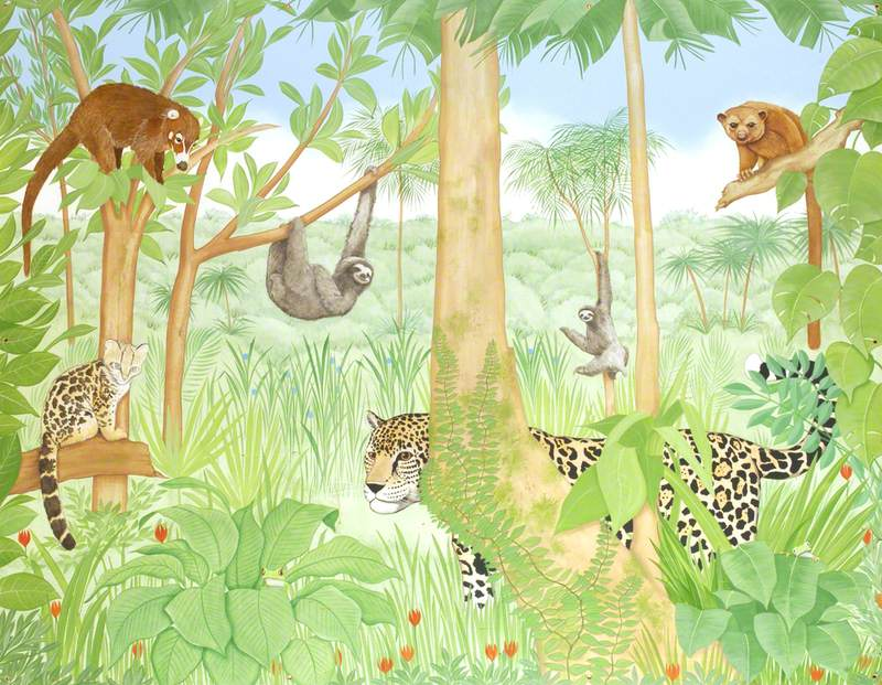 Leopard with Sloths