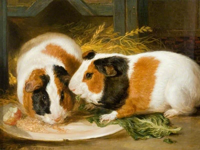Double Portrait of Henrietta Ward's Pet Guinea Pig