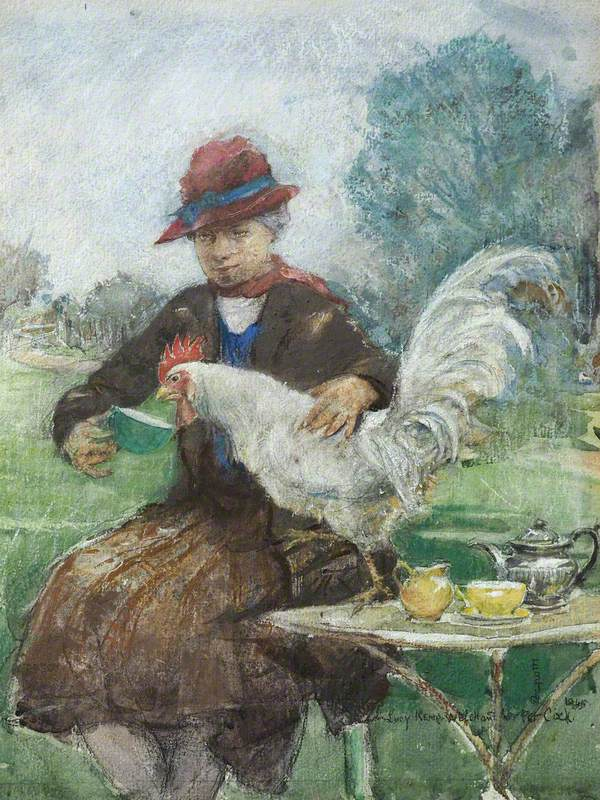 Lucy Kemp-Welch and Her Pet Cock