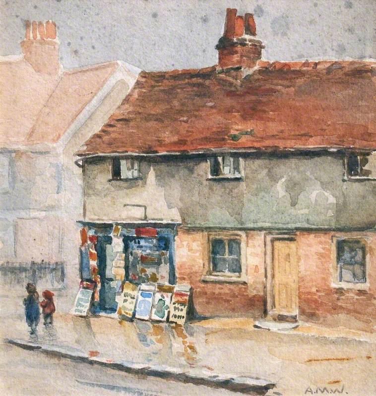 Old Paper Shop, Bushey, in the Rain