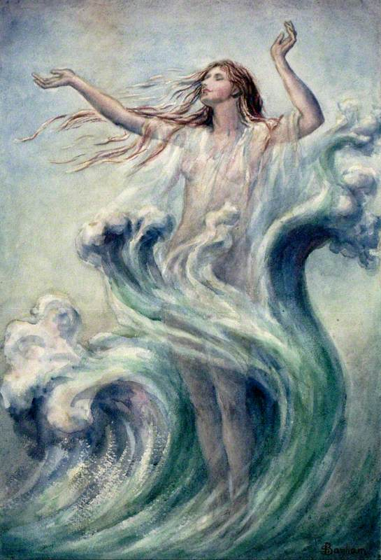 Sea Nymph Arising from the Waves