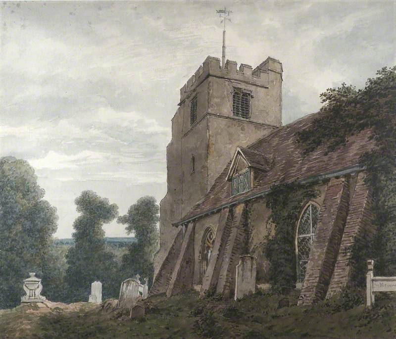 St James's Church, Bushey, from the South East