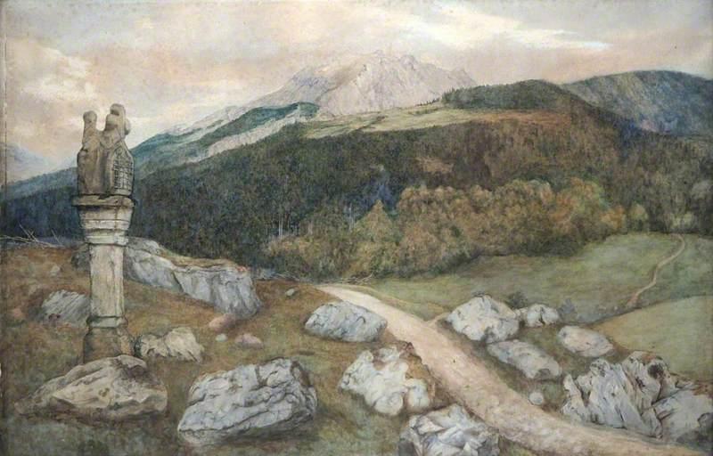 Rocky Landscape with a Wayside Shrine