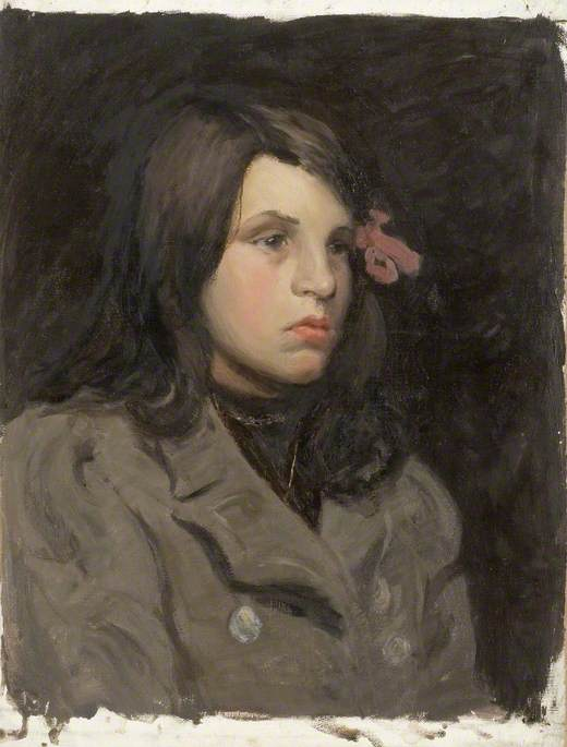 Portrait of a Girl with a Ribbon in Her Hair