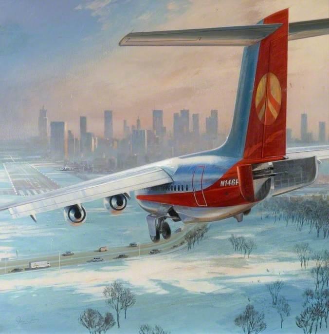 BAe146 Landing, Probably at New York