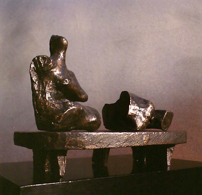 Two-Piece Reclining Figure: Maquette No. 8