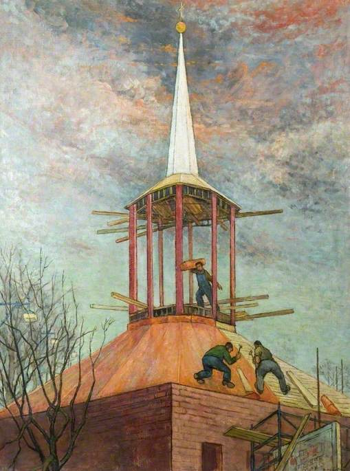 Laying the Copper Roof, St Michael's Church, Letchworth