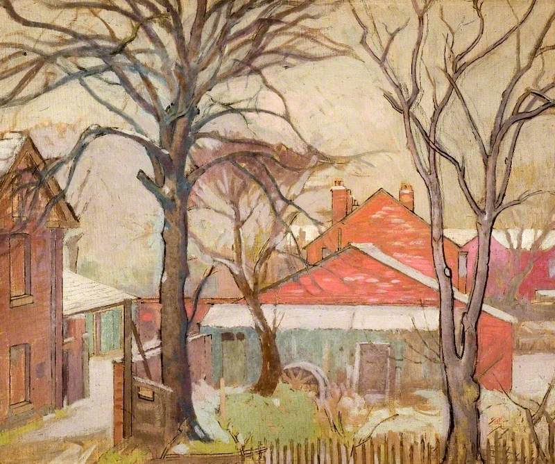 Winter Scene with Houses