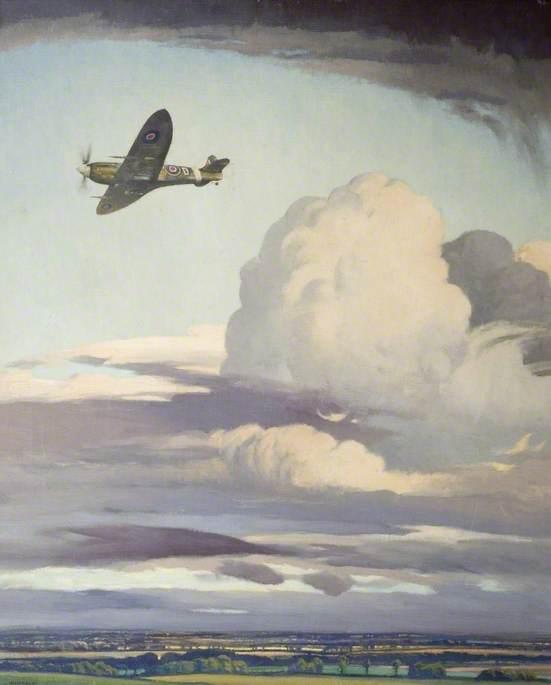 Spitfire over Bassingbourn