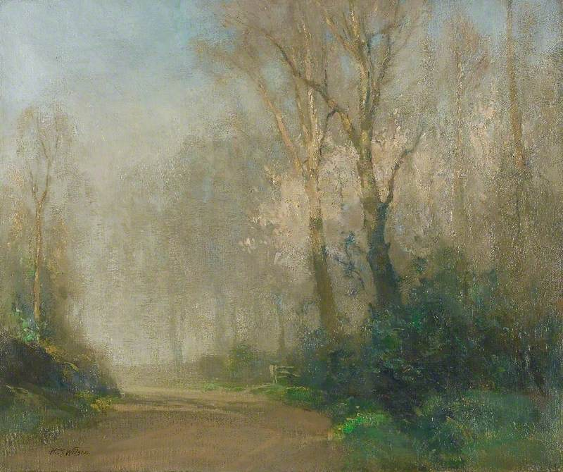 Morning Mist: Landscape at Tyttenhanger Lane