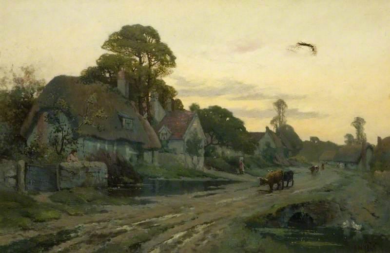 Village Scene, Cleve Prior, Worcestershire