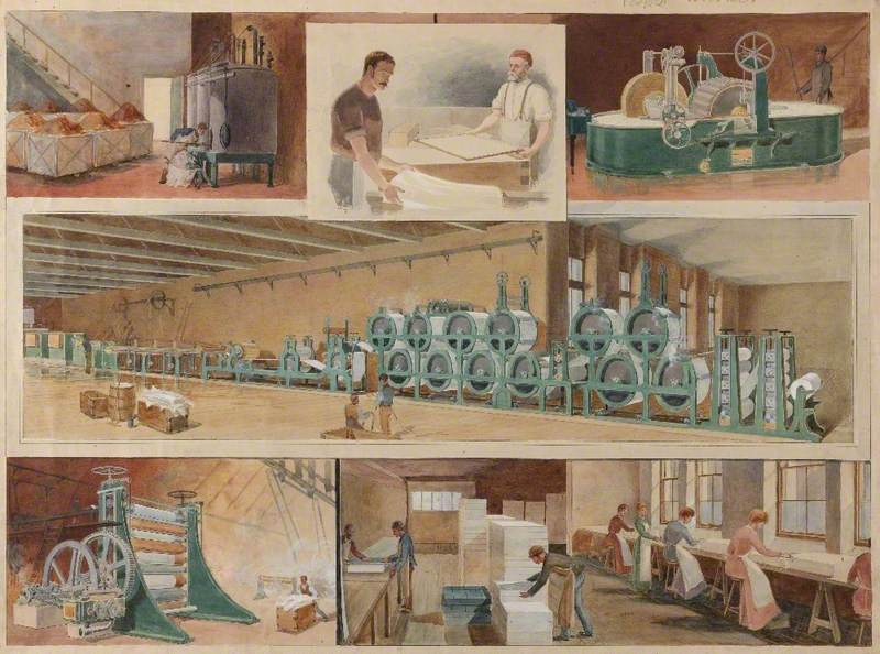 Paper-making Mill Scene