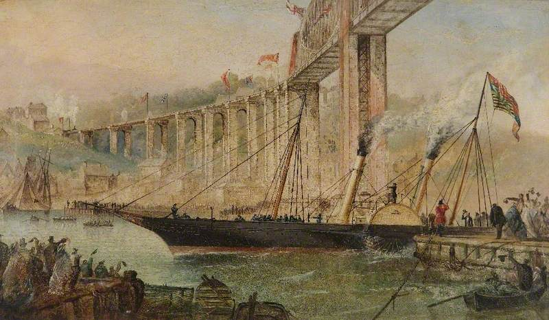 The Opening of the Saltash Bridge by Prince Albert, 2 May 1859