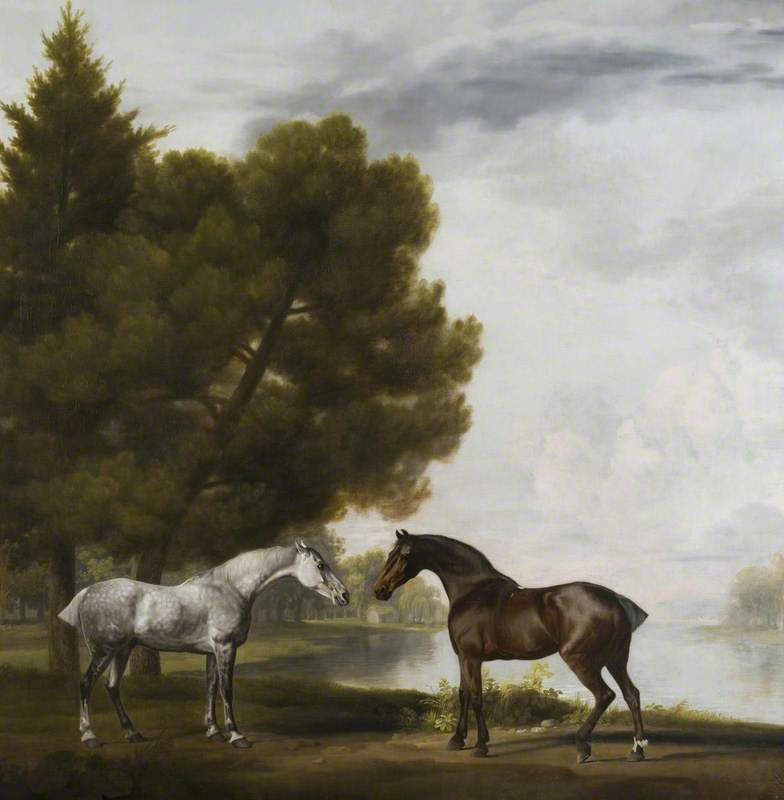 Two Horses Communing in a Landscape