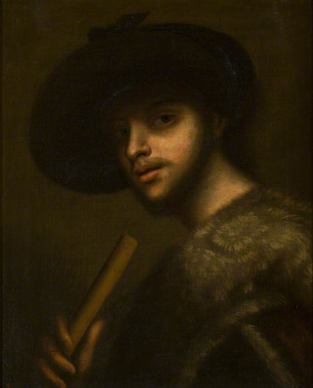 A Man with a Pipe or Flute