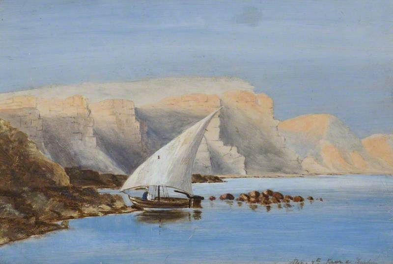 Sailing Boat off North Africa