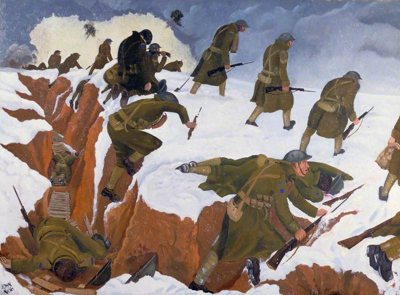 'Over The Top': First Artists Rifles at Marcoing, 30 December 1917