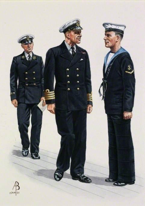 Royal Navy, 1939: Captain, Master at Arms, Leading Seaman