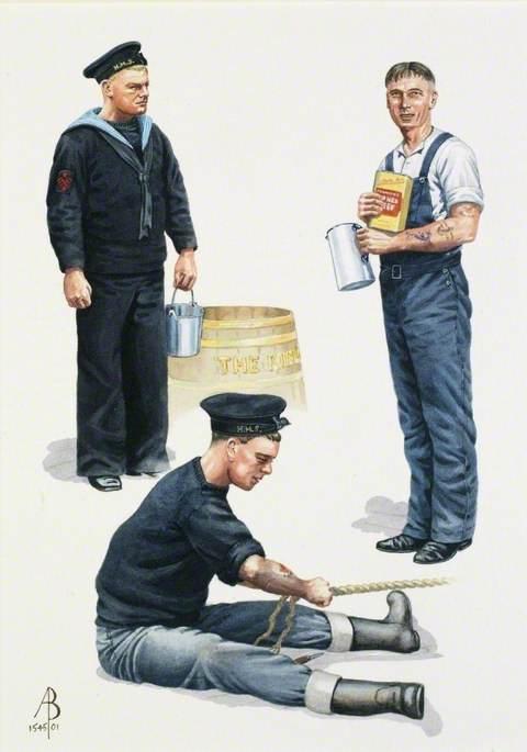 Royal Navy, World War Two: Visual Signalman, 1939; Rating (Overalls) Home Waters, 1944; Rating, Coastal Waters, 1939